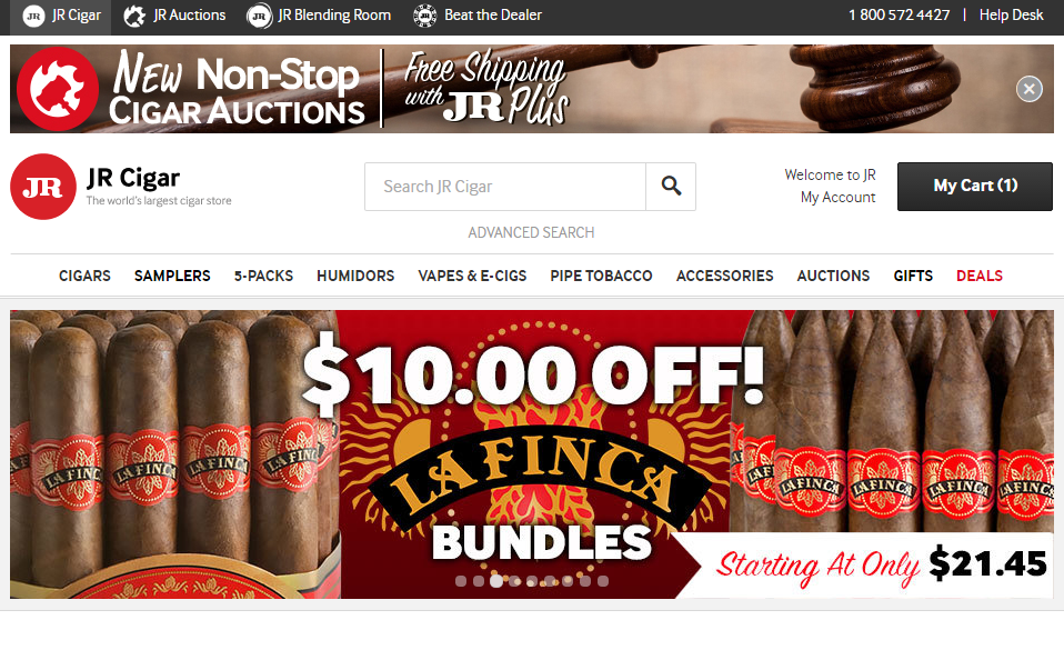 Jr cigar coupon code