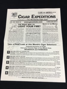 clubs of america cigar of the month club newsletter
