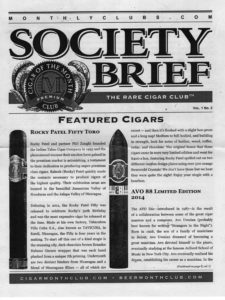 rare cigar club newsletter